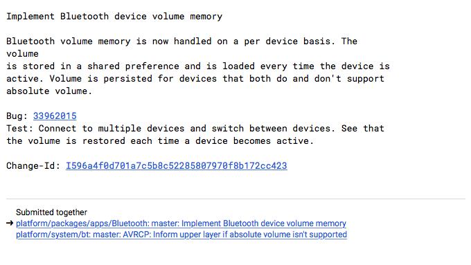 Android P sarà in grado di ripristinare il volume per ogni accesorio Bluetooth