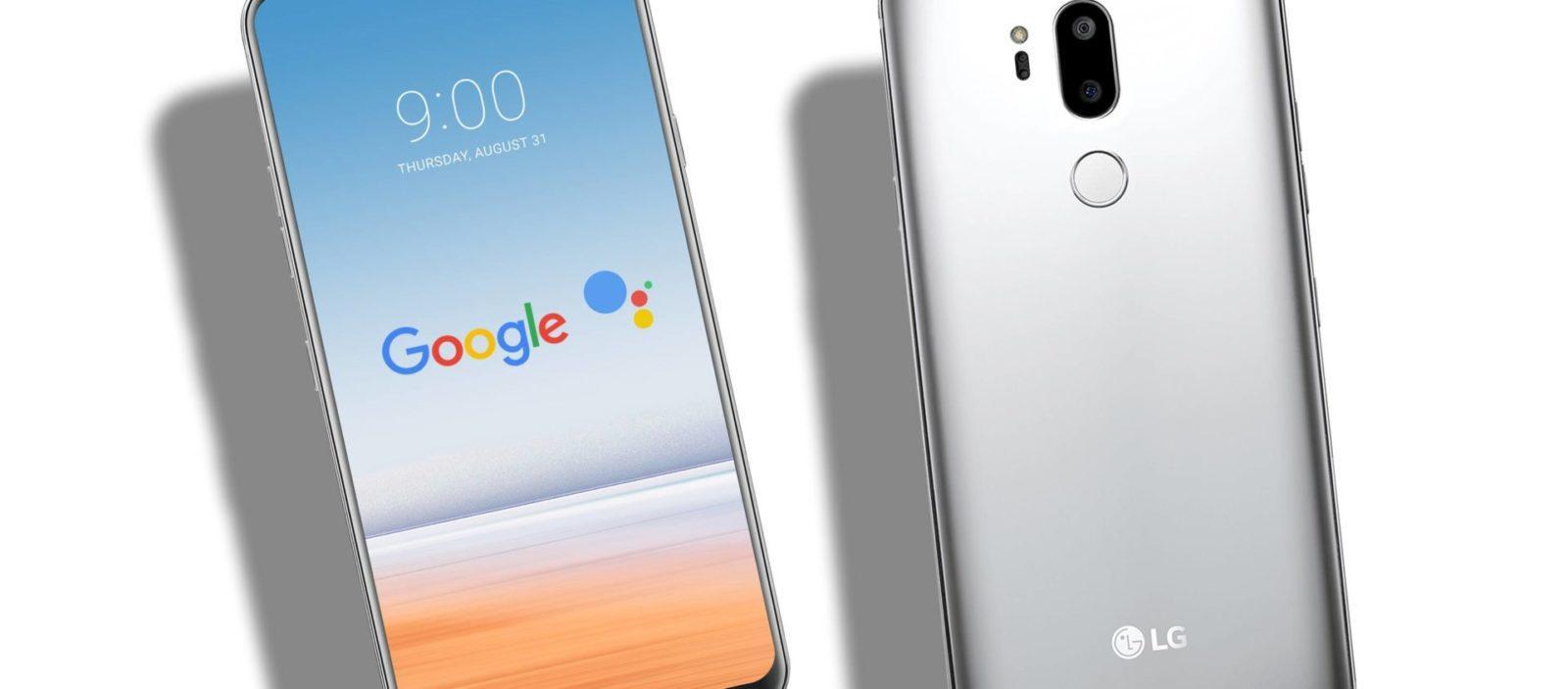 Copertina LG G7 con logo google assistant