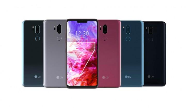 Gamma colori disponibili di LG G7 ThinQ.