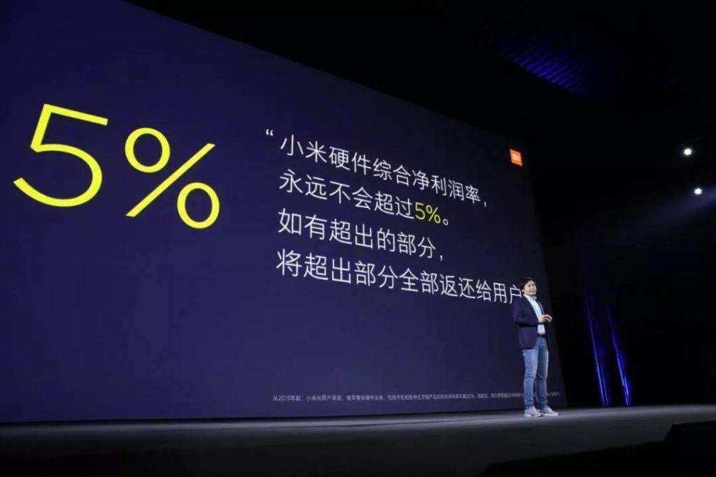 limite del 5% per i guadagni Xiaomi