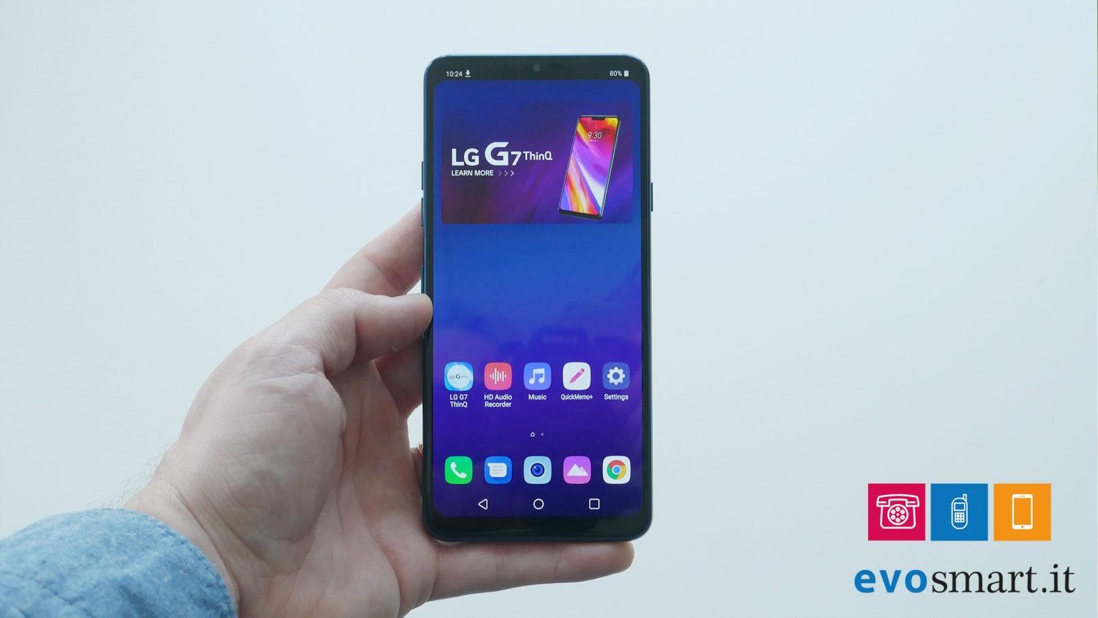 LG G7 primo impatto con lo smartphone