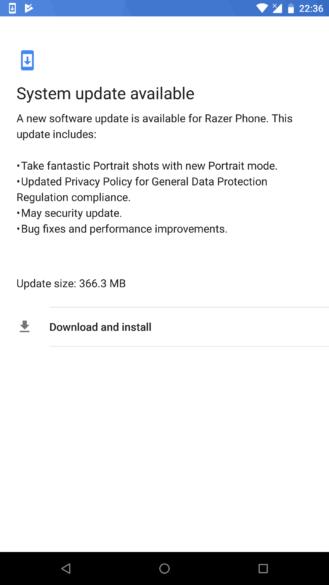 Razer Phone si aggiorna: patch di maggio e modalità portrait in arrivo
