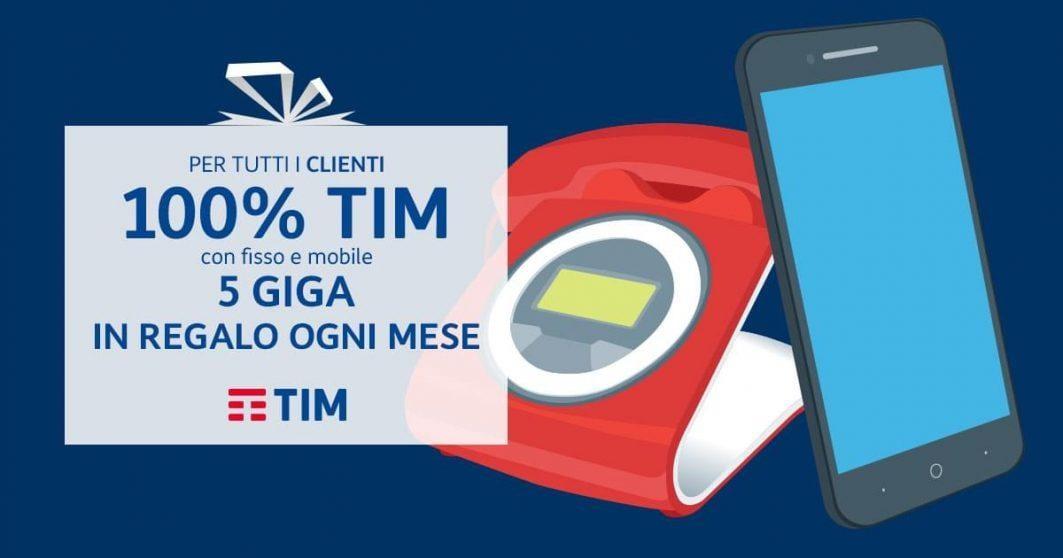 Nuova offerta TIM che regala 5 GB agli utenti fedelissimi