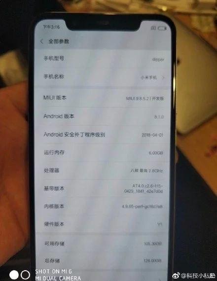 Uno sguardo alle info del dispositivo