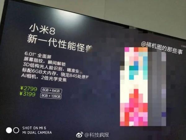 Xiaomi Mi 8 prezzi 1