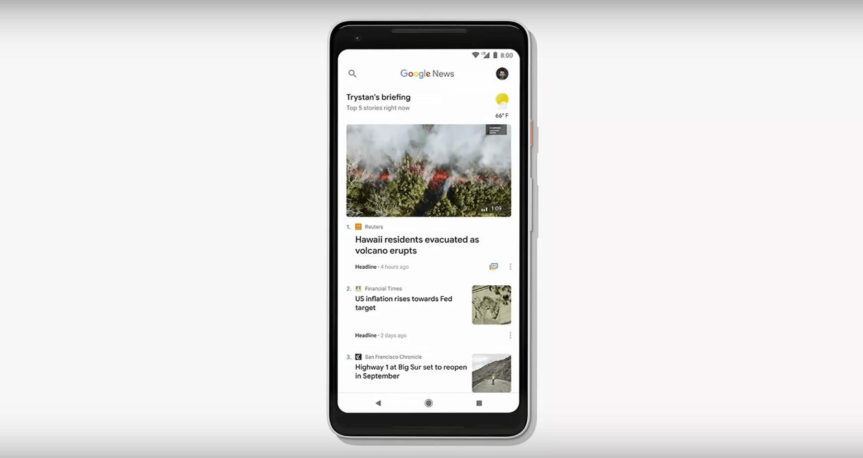 "Google News 2018 ""Home"""
