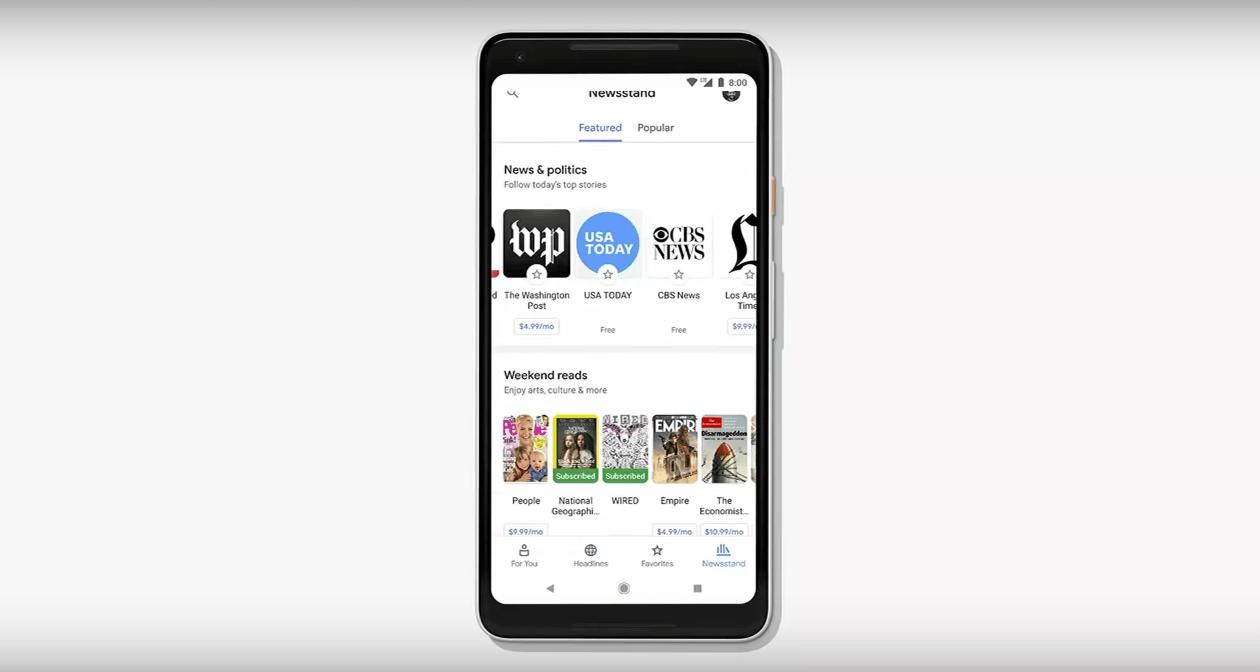 """Google News 2018 """"NewsStand"""""""