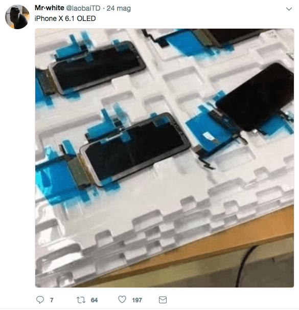 "Immagini pannello OLED iphone 6.1"""