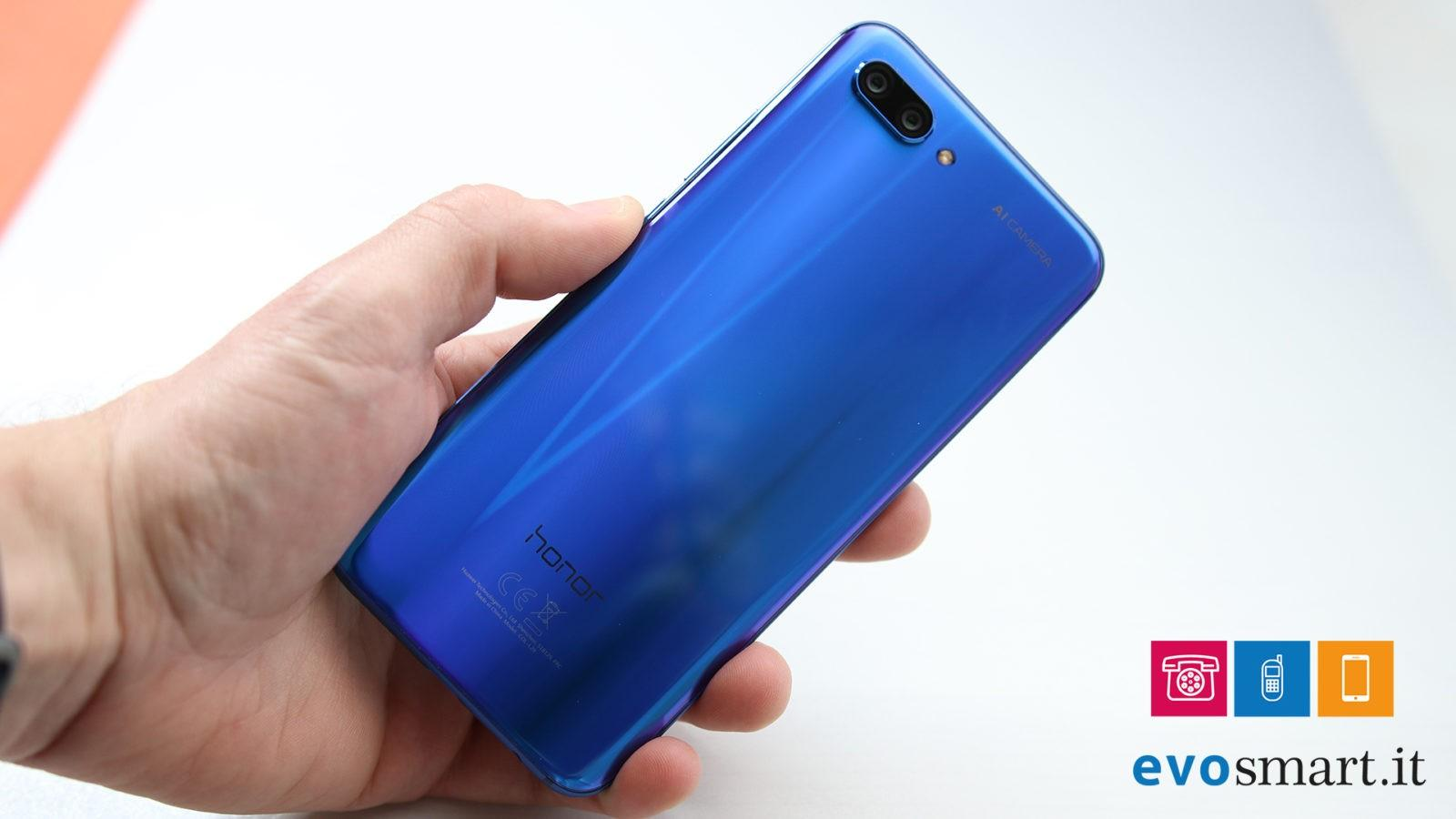 Honor 10 retro senza riflessi