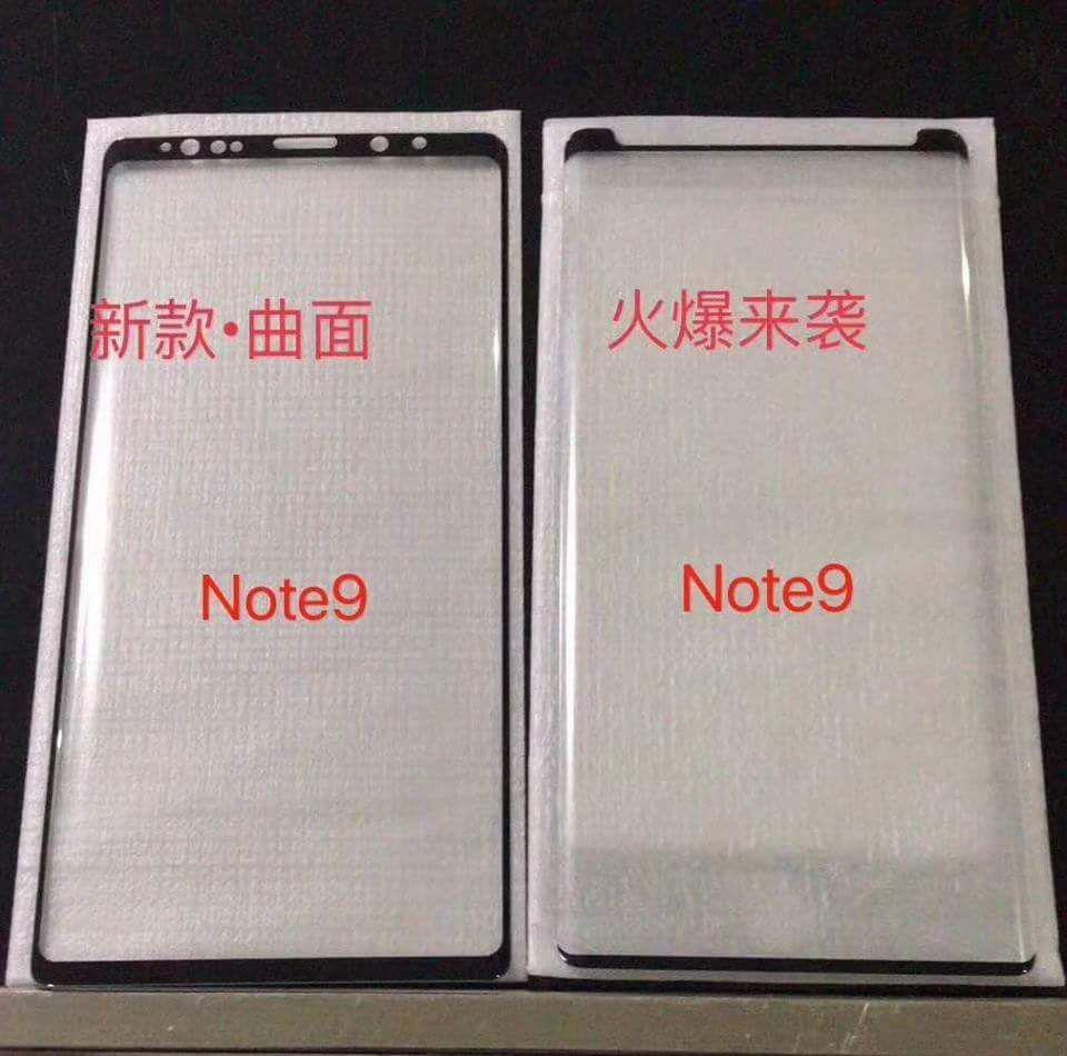 Appaiono in rete gli screen protector di Galaxy Note 9