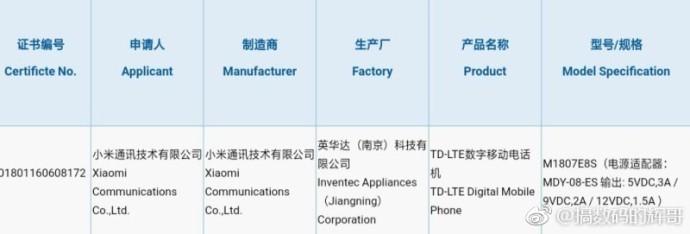 Xiaomi Mi MAX 3 passa alla certificazione 3C in Cina