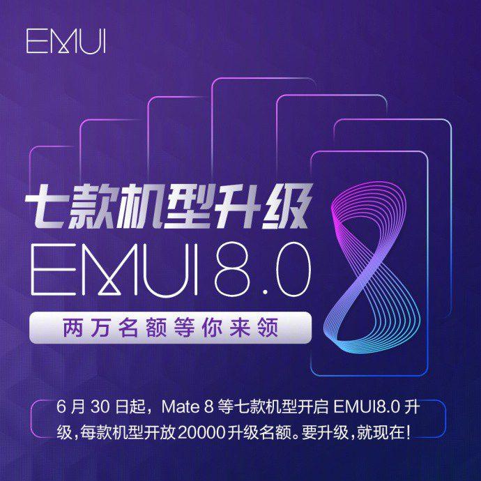 In arrivo la EMUI 8 per sette smartphone Huawei/Honor