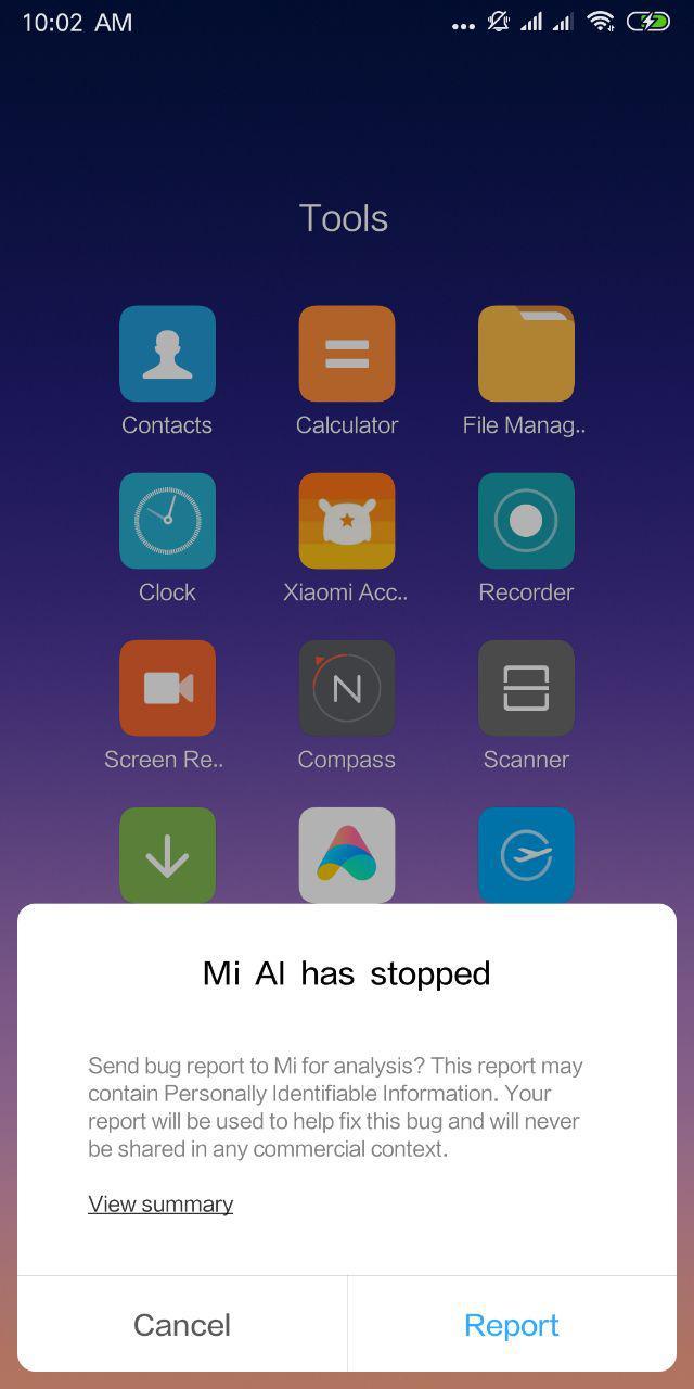 MI AI crash