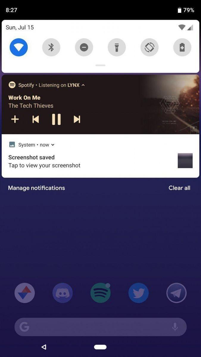 Notifiche espanse Android P
