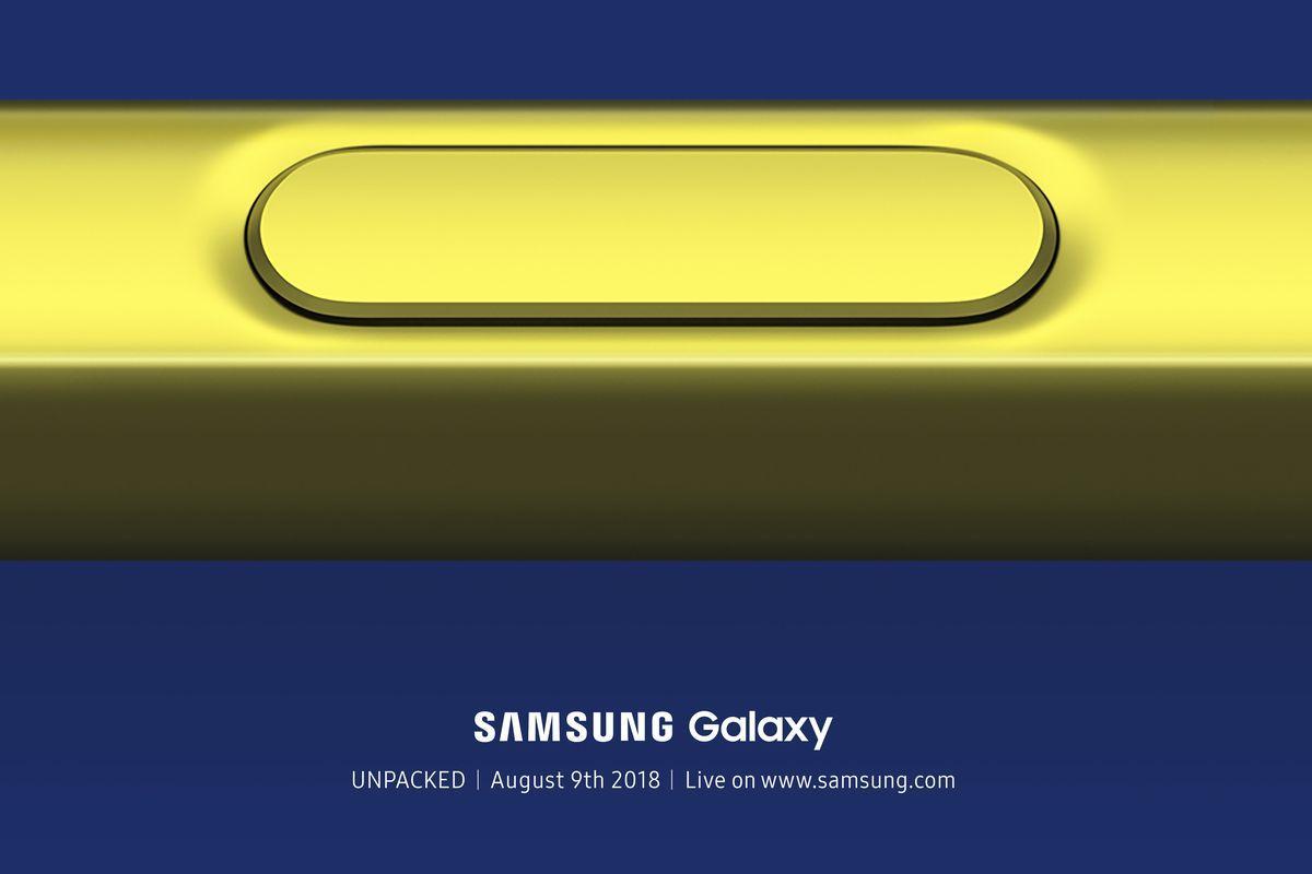 Galaxy Note 9 si mostra in una nuova immagine teaser