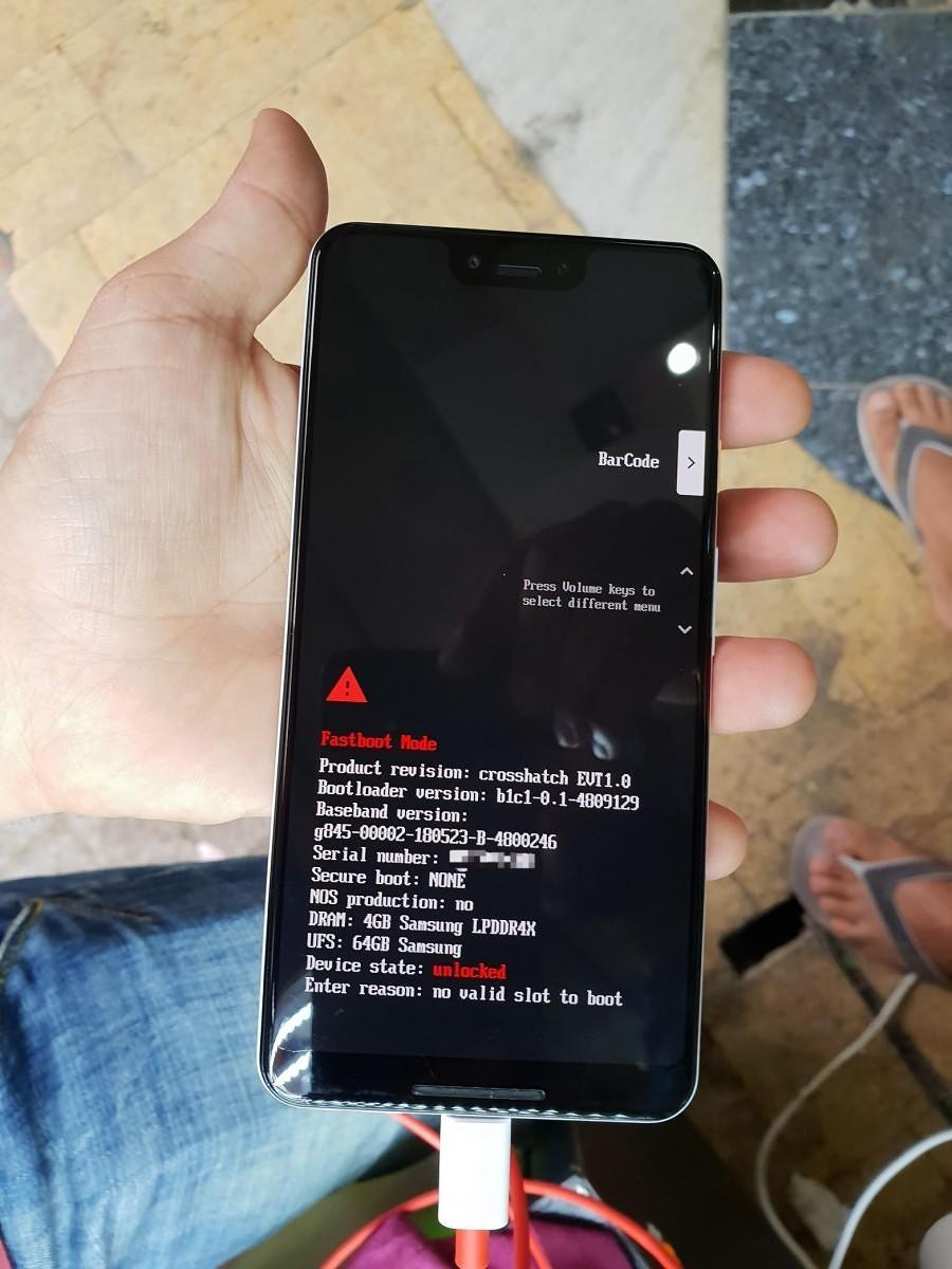 Pixel 3 XL Specifiche bootloader | Evosmart.it