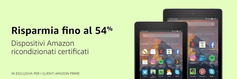 Fino al 54% di sconto per i dispositivi Amazon ricondizionati!