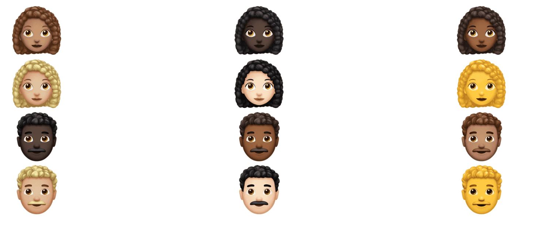 Emoji capelli ricci | Evosmart.it