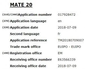 Huawei registra il brevetto per il nome Mate 20 e oltre!