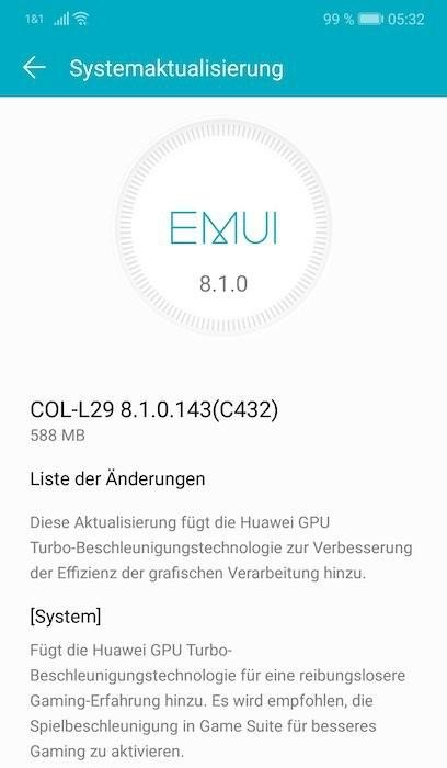 EMUI 8.1.0   Evosmart.it