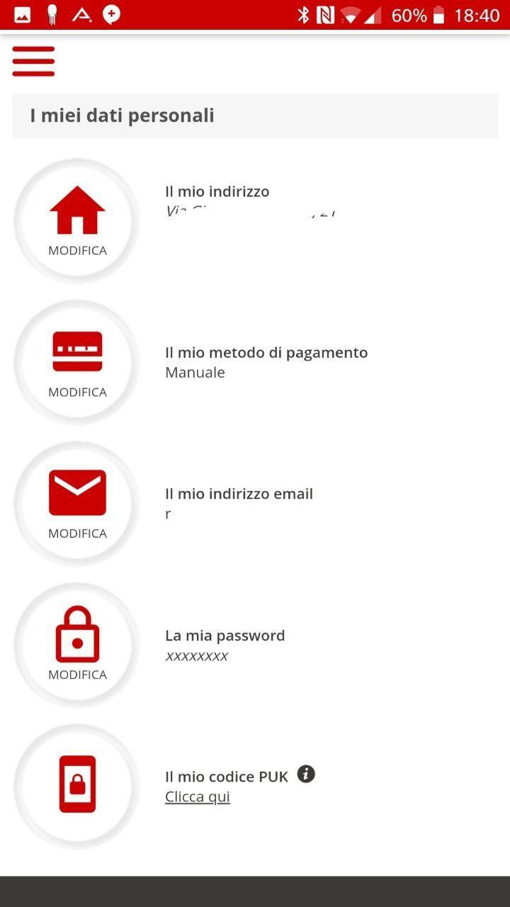 Sezione dati personali | Evosmart.it