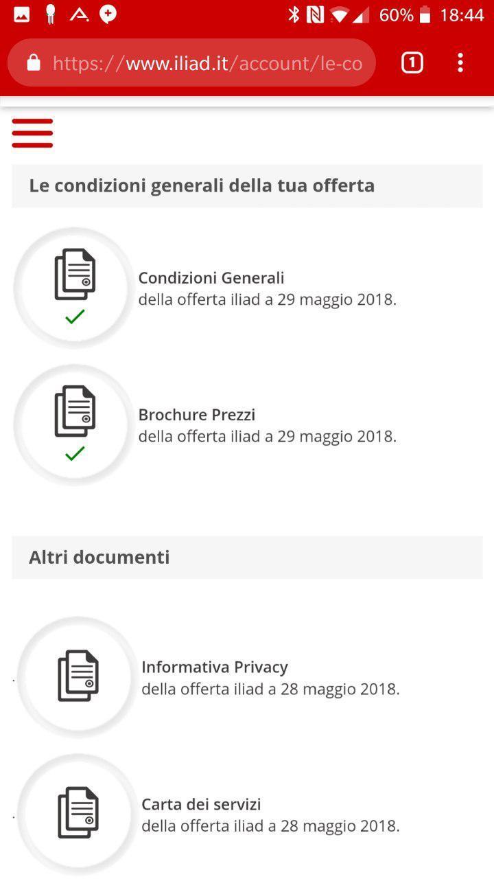 Condizioni generali offerta iliad | Evosmart.it