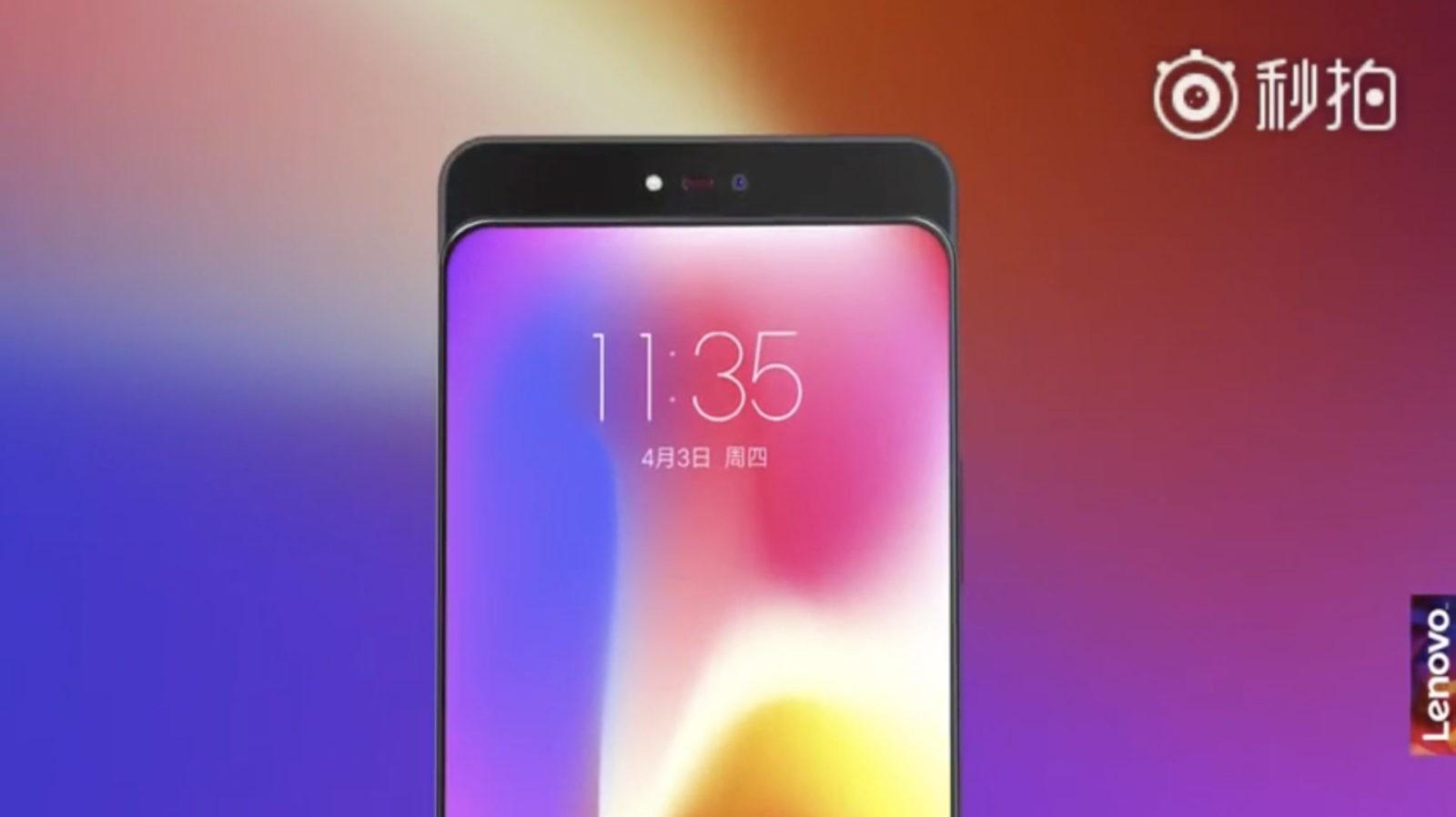 Lenovo svelta un nuovo concept phone con fotocamera a scomparsa