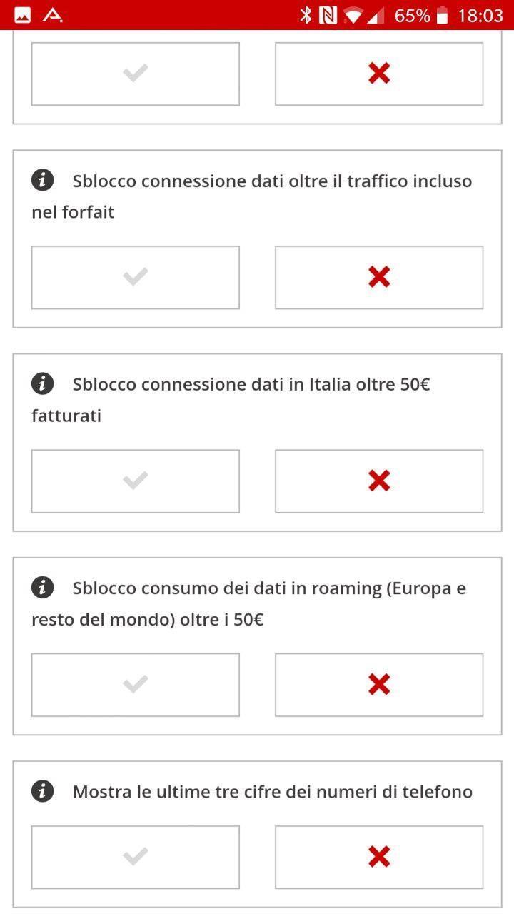 Schermata completa gestione opzioni | Evosmart.it