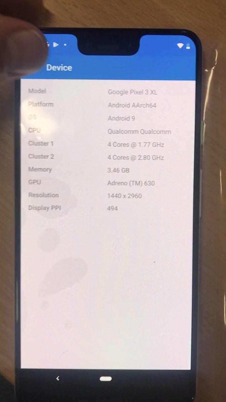 Informazioni dispositivo Pixel 3 XL   Evosmart.it
