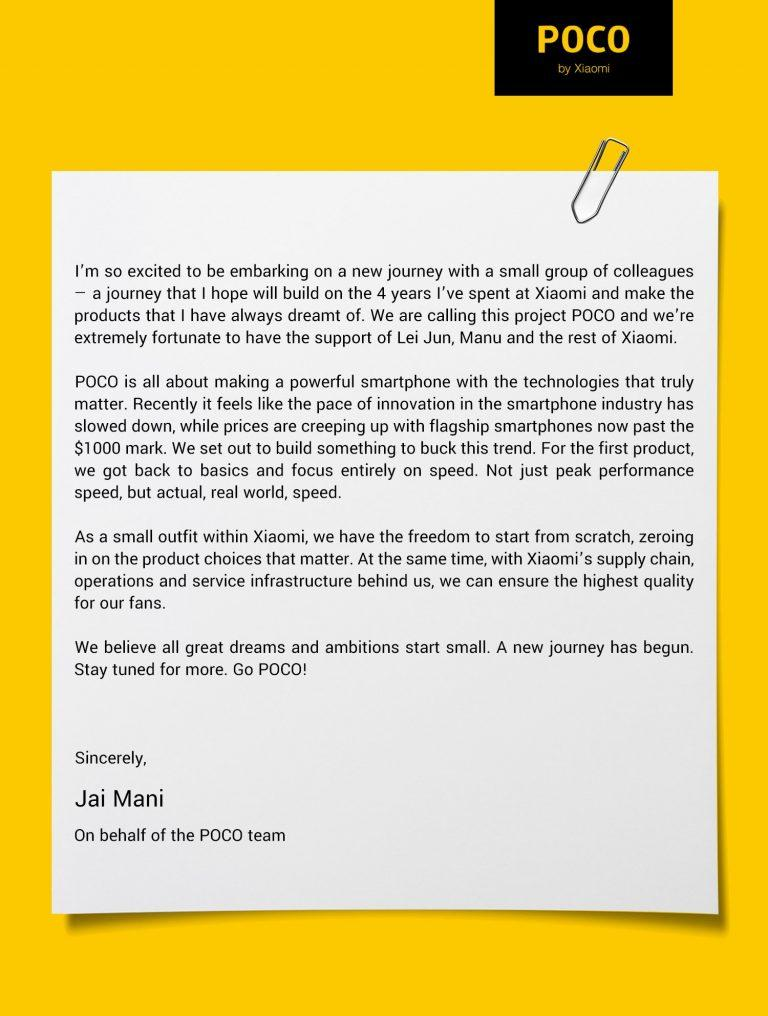 open letter pocophone