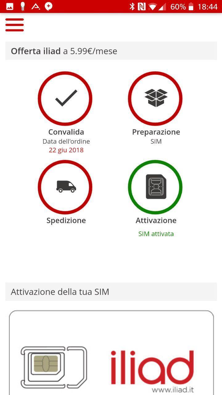 Dettagli attivazione SIM | Evosmart.it
