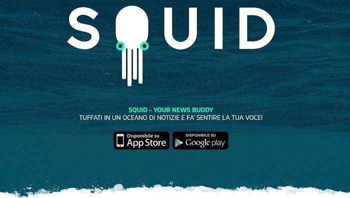 banner logo squid