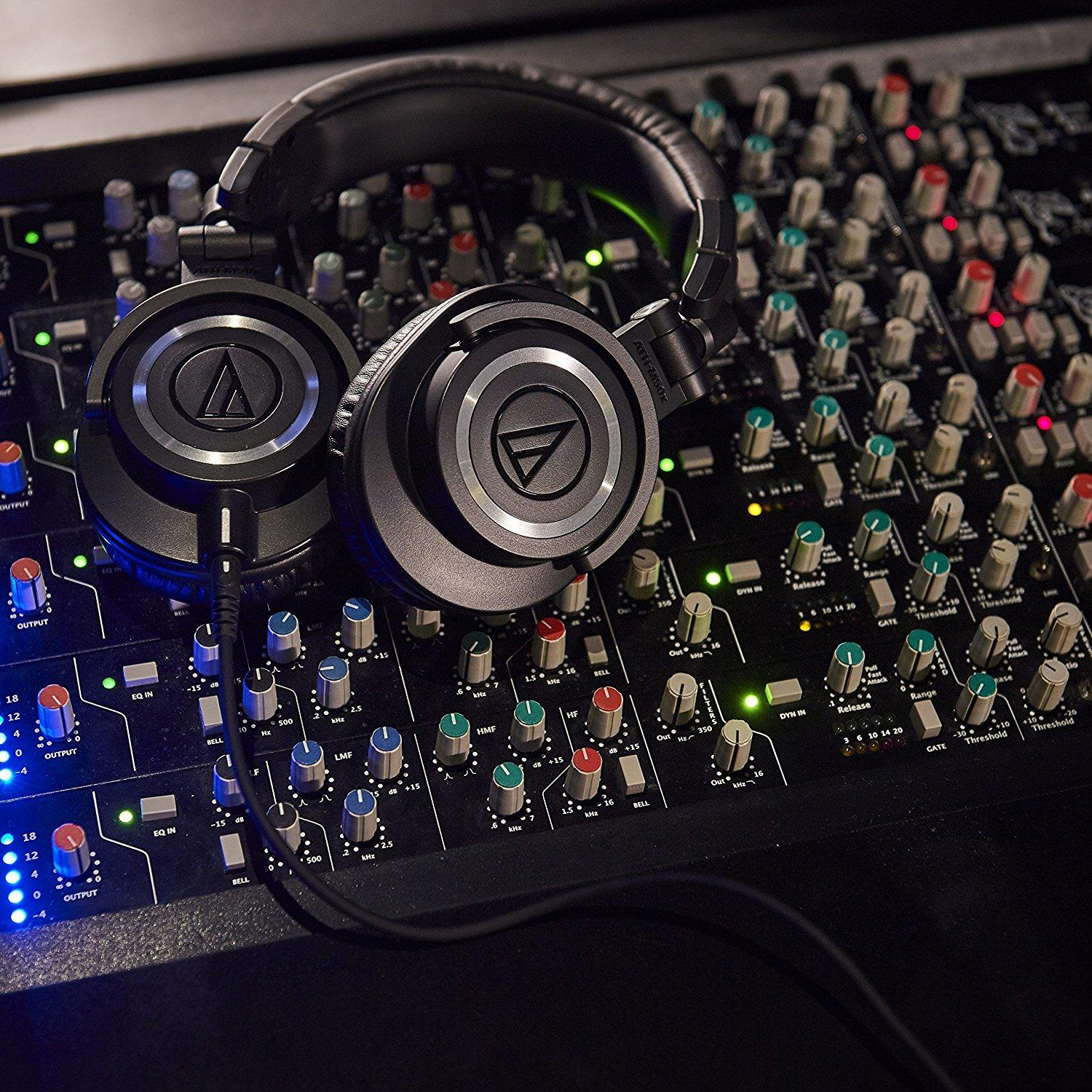 "Audio Technica M50X durante l'uso ""monitor"" 
