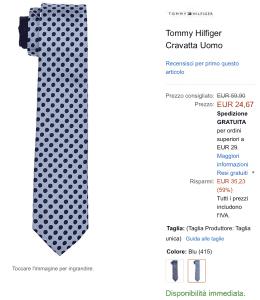 Cravatta offerta