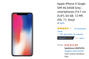 IPhone X offerta