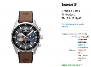 Orologio timberland offerta