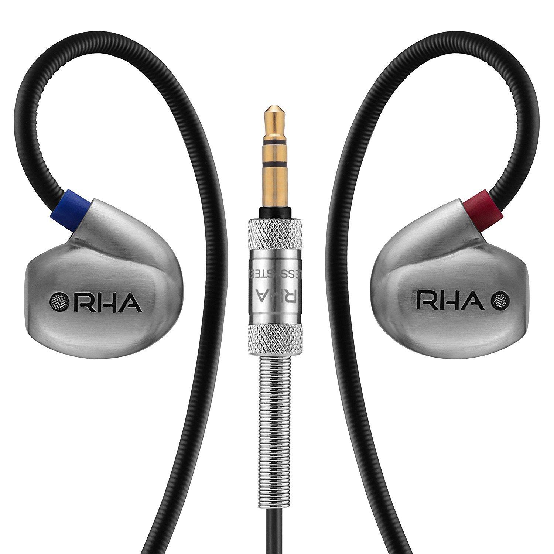 RHA T20 (fronte), cuffie analogiche con timbro del suono personalizzabile tramite filtri | Evosmart.it