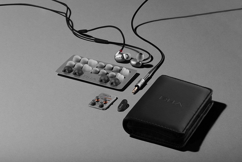 RHA T20 (tappi, filtri e custodia): il contenuto della confezione | Evosmart.it