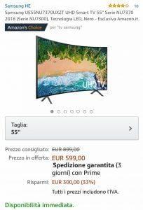 Samsung Smart TV in offerta evosmart
