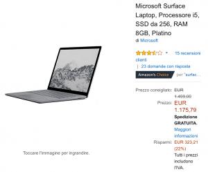 Surface laptop offerta