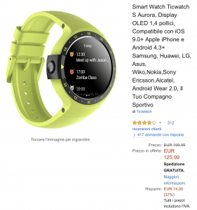 Ticwatch e offerta