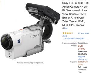 Videocamera offerta