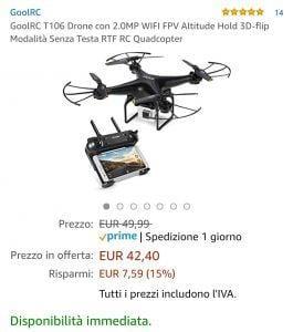 Drone offerta