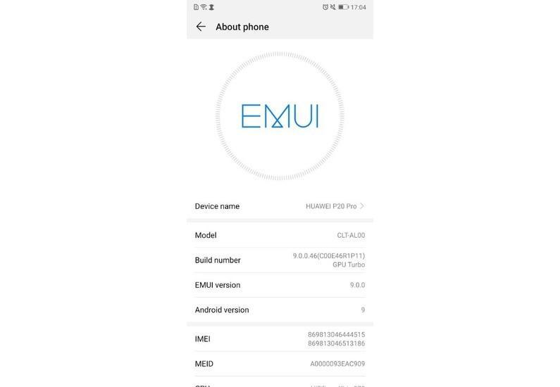Beta della EMUI 9.0 basata su Android Pie: Info sul Telefono | Evosmart.it