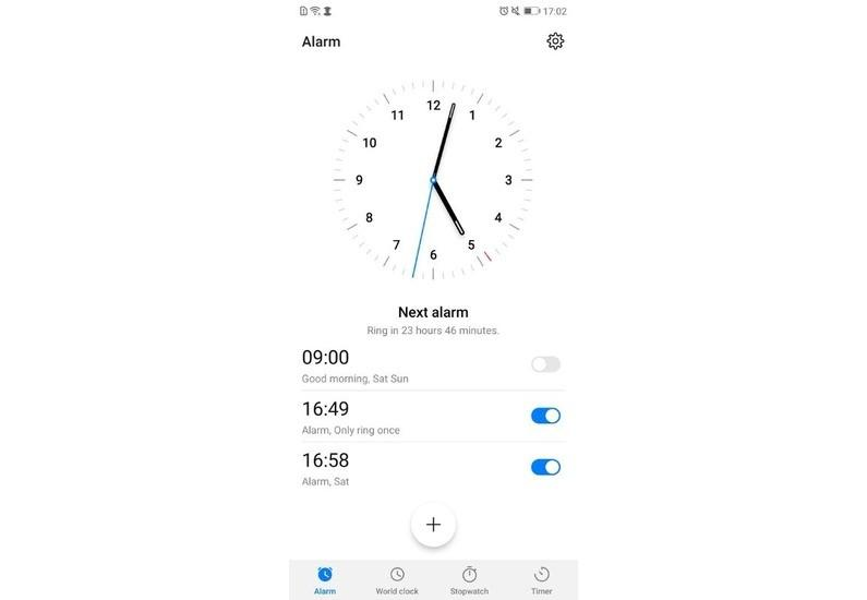 Beta della EMUI 9.0 basata su Android Pie: Orologio | Evosmart.it