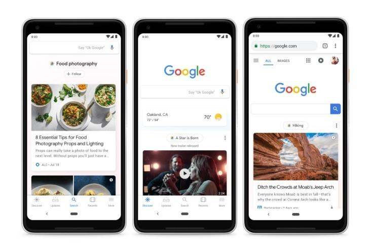 google feed discover