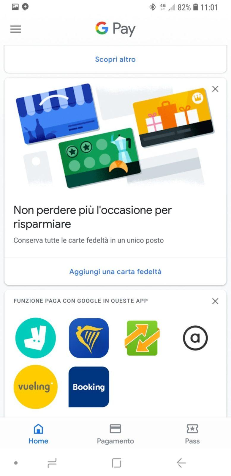 Home di Google Pay | Evosmart.it