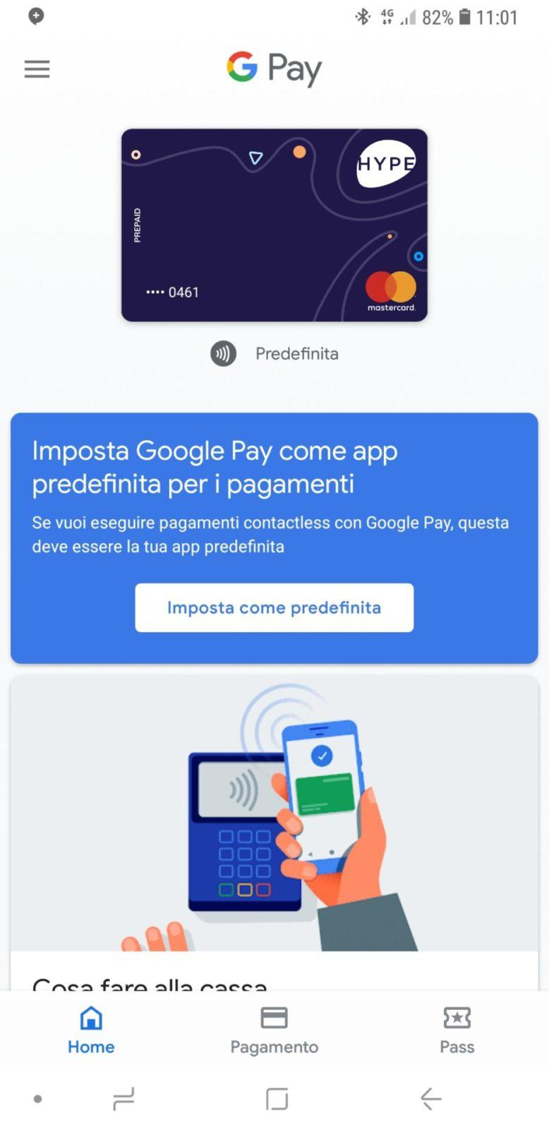 Carta Hype in uso su Google Pay | Evosmart.it
