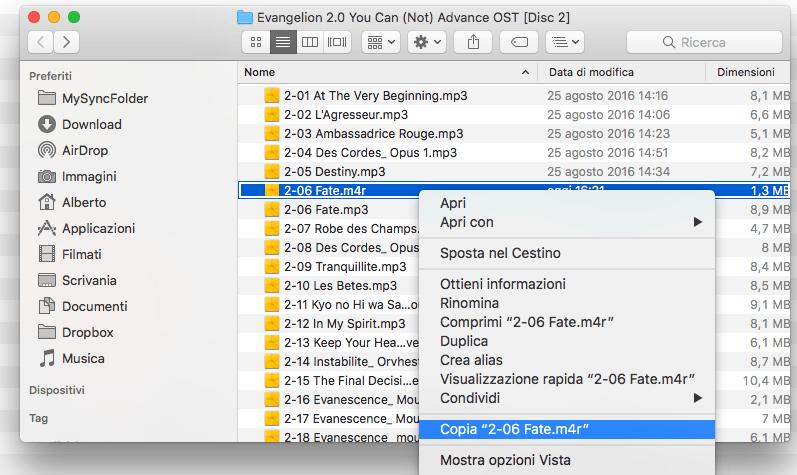 Selezionate e copiate nella scheda Suoneria del vostro iPhone il brano appena creato   Evosmart.it