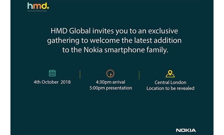 HMD invita tutti a Londra il 4 Ottobre, arriva Nokia 9?